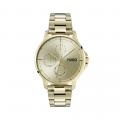 Mens Gold Focus Bracelet Watch