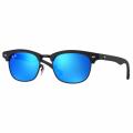 Junior Matte Black & Blue Mirror RJ9050S Clubmaster Sunglasses
