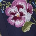 Womens Dark Blue Bloomah Spring Meadow Bomber Jacket