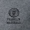 Mens Grey Embroidered Logo Crew Knitted Jumper