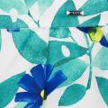 Girls Blue Floral Print Shorts