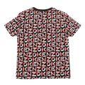Girls Black Logo Print S/s T Shirt