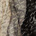 Womens Black & Grey Multi Logo Scarf