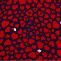 Womens Red Heart Print S/s T Shirt