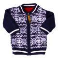 Baby Red Reversible Knitted Cardigan