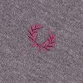 Mens Graphite Marl Oxford Collar Trim L/s Polo Shirt