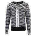 Womens Black Joziff Pattern Knitted Jumper