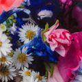 Womens Pale Blue Emore Focus Bouquet Strappy Dress