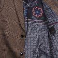 Mens Brown Rhyl Heritage Check Tailored Coat