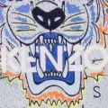 Boys Marled Blue Tiger 17 Sweat