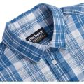 Mens Bleach Wash Kelvin Check L/s Shirt