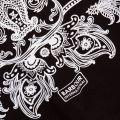 Womens Black Rearset S/s Tee Shirt