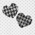 Girls Natural/Black Sequin Heart Spot L/s T Shirt