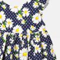 Infant Navy Daisy Printed Dress