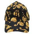 Mens Black Jewel Logo Print Cap