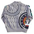 Boys Marl Grey Antonio Tiger Zip Sweat Top