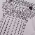 Anglomania Mens White Pillar Print Classic S/s T Shirt