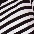 Womens Black Koso Striped S/s Tee Shirt