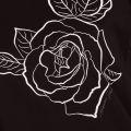Womens Black Rose Printed S/s T Shirt