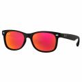Junior Matte Black & Red RJ9052S Wayfarer Sunglasses