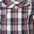 Mens Milk & Blue Arc 3D Check S/s Shirt