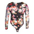 Womens Black Floral Roisin Bodysuit