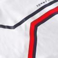 Mens White Split Chest Stripe S/s T Shirt