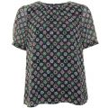 Womens Mineral Green Multi Medina Tile Sheer Top