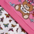 Baby Dark Pink Toy Butterfly T Shirt & Skirt Set