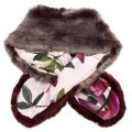 Womens Mid Purple Avril Two Tone Faux Fur Scarf