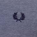 Mens Dark Carbon Oxford Collar Trim L/s Polo Shirt