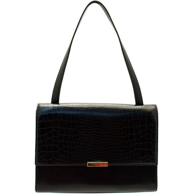 Womens Black Lowri Exotic Panel Shoulder Bag
