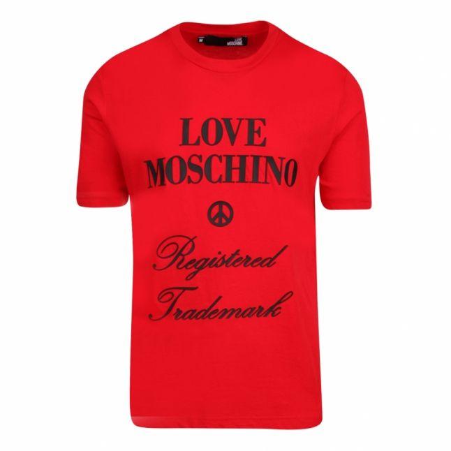 Mens Red Registered Logo Regular Fit S/s T Shirt