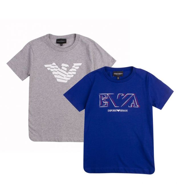 Boys Navy 2 Pack S/s T Shirts