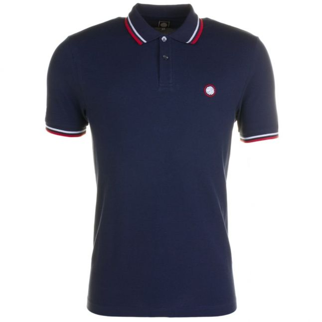 Mens Navy Tipped S/s Polo Shirt