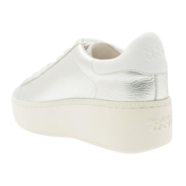 Womens Silver Cult Platform Trainers