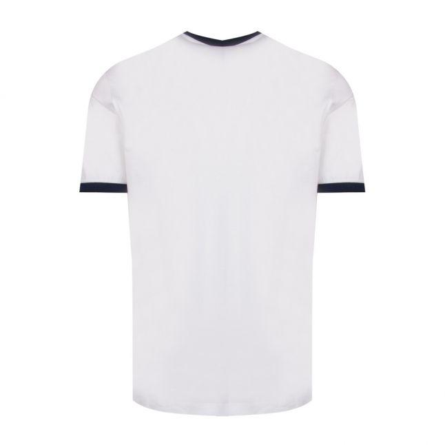 Mens White Tri Colour Logo Custom Fit S/s T Shirt