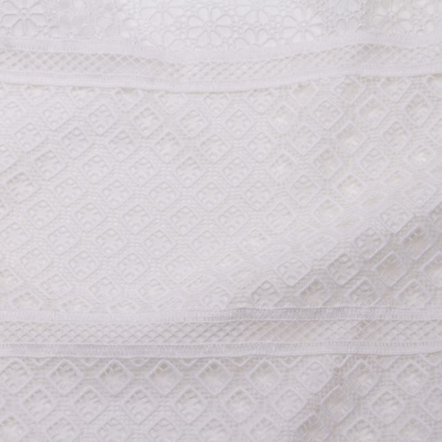 Womens Ivory Adriene Lace Panelled Top
