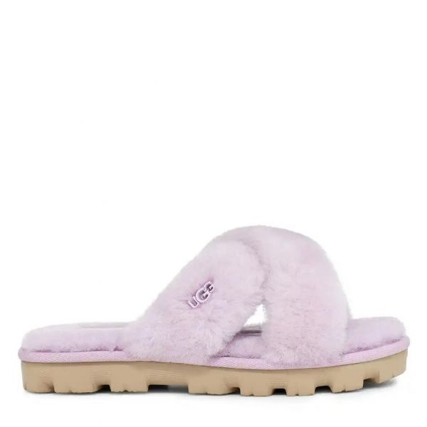 Womens California Aster Fuzzette Slide Slippers