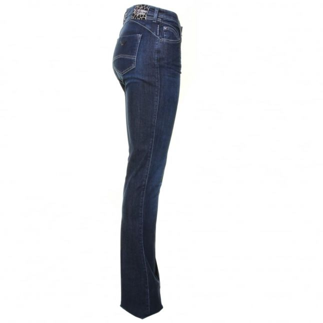 Womens Denim Wash J07 High Rise Flared Jeans