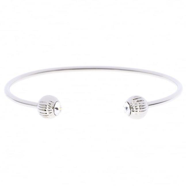 Womens Silver & Crystal Adellia Cuff Bracelet