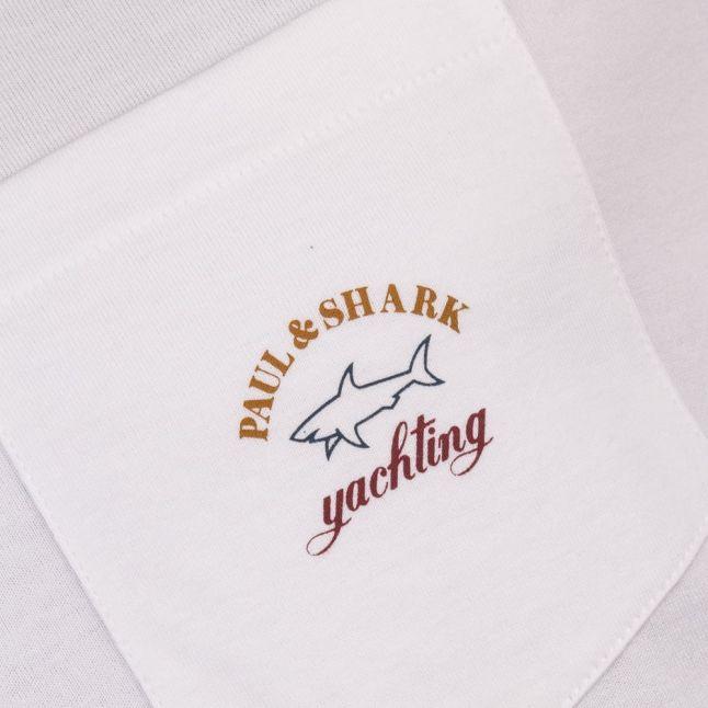 Paul & Shark Mens White Shark Fit Pocket S/s Tee Shirt