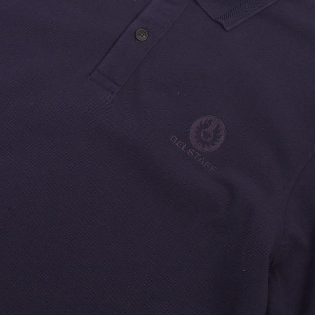 Mens Navy Small Logo L/s Polo Shirt