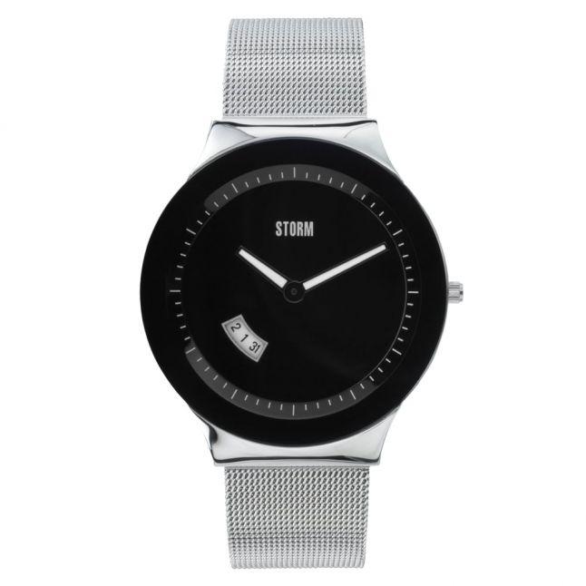 Mens Black Dial Silver Sotec Watch