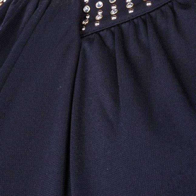 Womens Black Diamond Drape Jumpsuit
