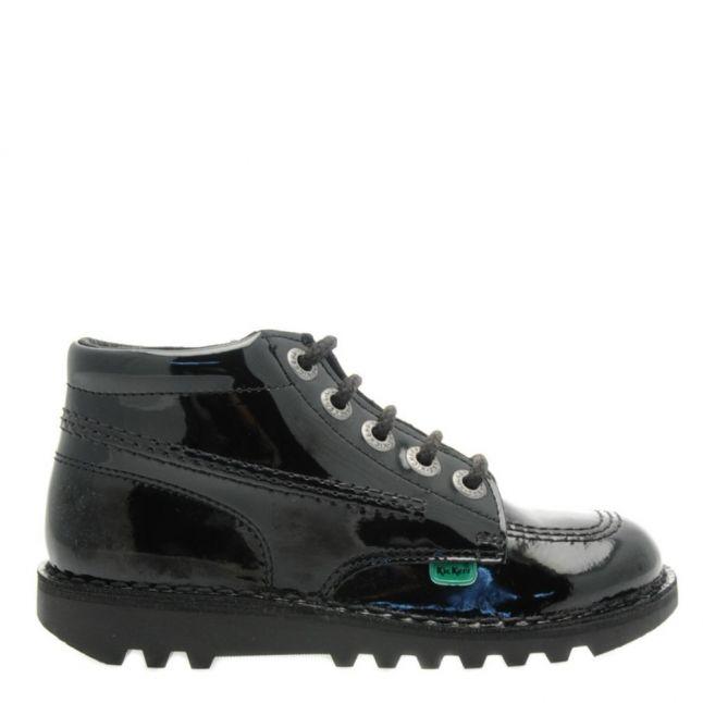 Junior Black Patent Kick Hi Shoes (12.5-2.5)
