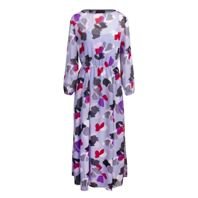 Womens Lilac Petal Chiffon Maxi Dress