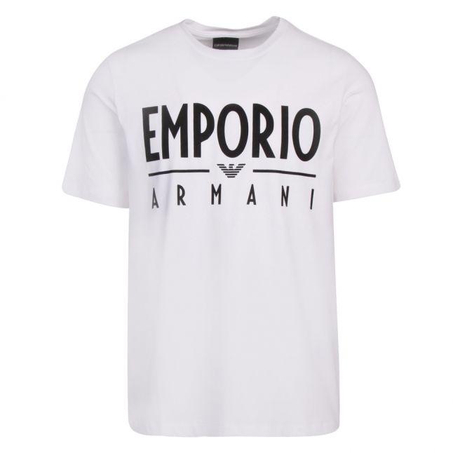 Mens White Large Logo S/s T Shirt