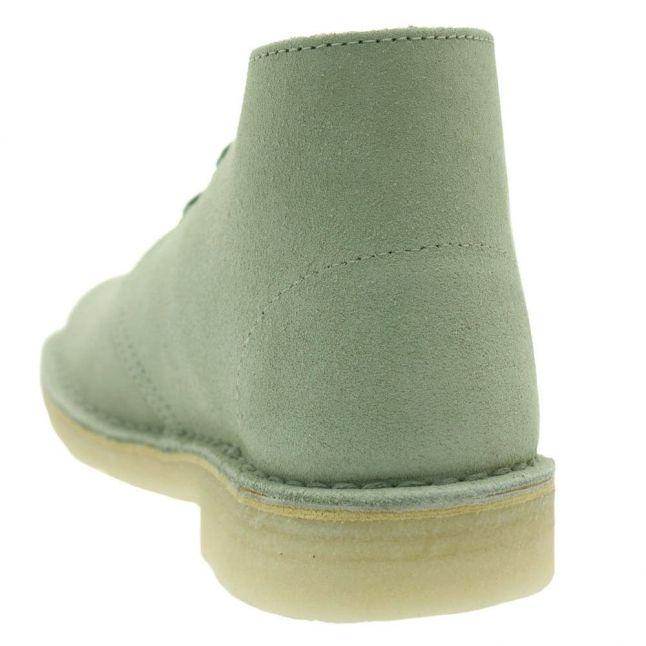 Womens Pale Green Suede Desert Boots
