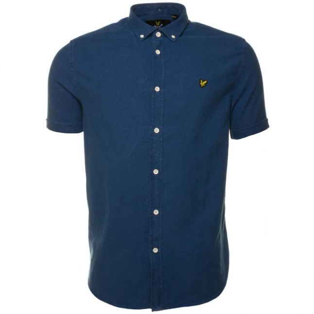 Mens Light Indigo S/s Oxford Shirt